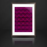 Photo Frame On The Wall. Vector Illustration. Eps 10 Royalty Free Stock Photos