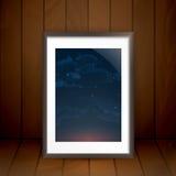 Photo Frame On The Wall. Vector Illustration. Eps 10 Stock Photos