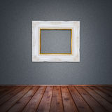 Photo frame in vintage room Stock Photography
