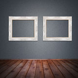 Photo frame in vintage room Royalty Free Stock Image