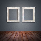 Photo frame in vintage room Royalty Free Stock Photos