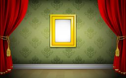 Photo Frame on Wallpaper Royalty Free Stock Image