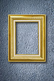 Photo frame on water drops background Royalty Free Stock Images
