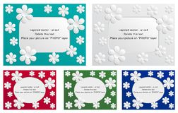 Photo frame - white flowers Royalty Free Stock Images