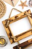 Photo frame on white Stock Photos