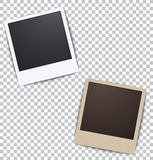 Photo frame on white a plaid background with shadow Stock Images