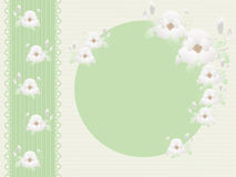 Photo Frame With Flowers Royalty Free Stock Photography