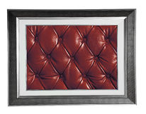 Photo Frame With Red Leather Royalty Free Stock Images