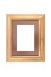 Photo frame. Wood photo frame isolated on white background Stock Image