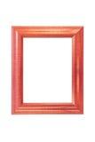 Photo frame. Wood photo frame isolated on white background Stock Photos