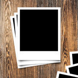 Photo frame on Wood Texture and background Royalty Free Stock Images