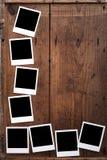 Photo frame on Wood Stock Image