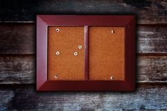 Photo frame on wooden background Royalty Free Stock Image