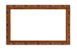 Photo Frame. Wooden picture art frame isolaten on white Royalty Free Stock Image
