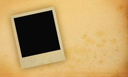 Photo frame with yellowed copy space Stock Photos