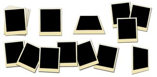 Photo frames. Set of isolated retro photo frames for you pictures stock photo