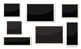 Photo frames. With different size, can replace image and message on it Stock Photos