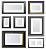 Photo frames. Set of 7 empty photo frames vector illustration