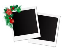 Photo frames. With garland and balls Royalty Free Stock Images