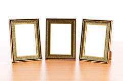 Photo frames. On the table Royalty Free Stock Image
