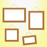 Photo Frames. Set of photo and painting frames Royalty Free Stock Photography