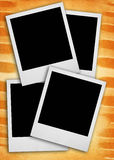 Photo frames. Blank photo frames against rough grunge background stock images