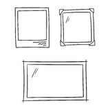 Photo frames for album memory doodle set - isolated vector illustration Stock Images