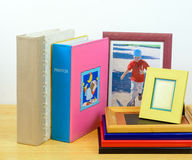 Photo frames and Albums. photographic shop Stock Photography
