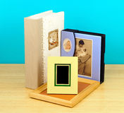 Photo frames and Albums. photographic shop Royalty Free Stock Photo