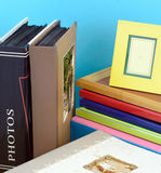 Photo frames and Albums. photographic shop Royalty Free Stock Photography