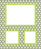 Photo frames, background with green flowers Royalty Free Stock Image