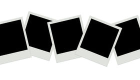 Photo frames background. Instant film. Horizontal composition Stock Photos