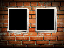 Photo frames. On the brick wall Stock Image