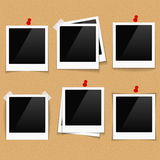Photo Frames on Bulletin Board Stock Photo