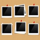 Photo Frames on Bulletin Board Stock Photo