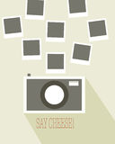 Photo frames with camera. Abstract background Royalty Free Stock Image