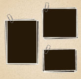 Photo frames composition Royalty Free Stock Photography