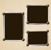 Photo frames composition Royalty Free Stock Image