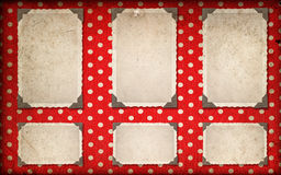 Photo frames with corner. retro style photo album page Royalty Free Stock Image