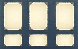 Photo frames with corner. retro style photo album page Stock Images