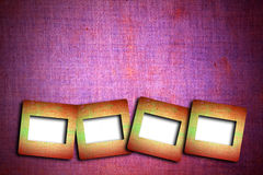 Photo frames on cracked vintage background Stock Image