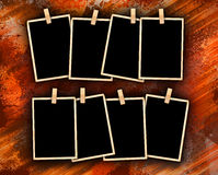 Photo Frames on Dirty Colorful Background Stock Image