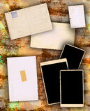 Photo Frames on Dirty Colorful Background Royalty Free Stock Photo