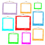 Photo frames. Doodle sketch, vector Stock Photo