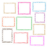 Photo frames. Doodle sketch, vector Royalty Free Stock Photo