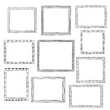 Photo frames. Doodle sketch, vector Royalty Free Stock Photography