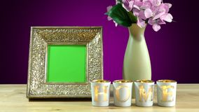Photo frames in elegant interiors display. Royalty Free Stock Photos