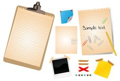 Photo frames and empty notes Royalty Free Stock Photo