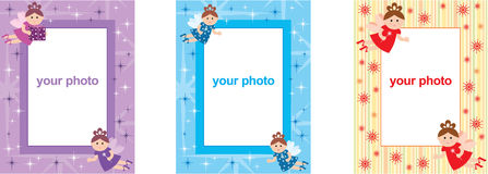 Photo frames with fairys Stock Photography