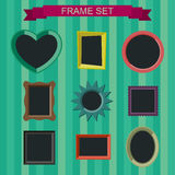 Photo frames in flat style. Simple vector photo frames in flat style Stock Images